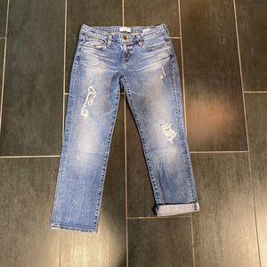 LOWEST PRICE Big Star Kate Crop Distressed Jeans